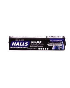 HALLS EXTRA STRONG MENTHOL 9pc