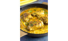 Curried Flavoured Stuffed Chicken Breast with Coconut Sauce